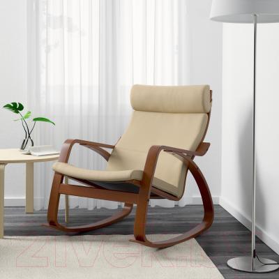 Кресло-качалка Ikea Поэнг 299.008.73 (коричневый/светло-бежевый)