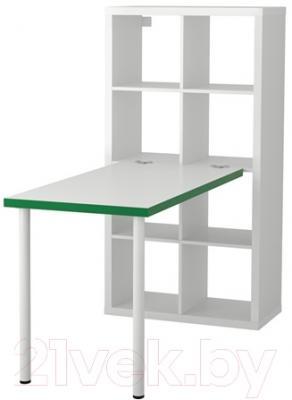 Письменный стол Ikea Каллакс 791.230.22 (белый/зеленый)