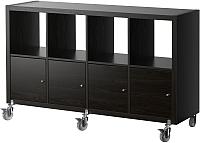 Стеллаж Ikea Каллакс 890.304.90 (черно-коричневый) -