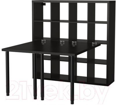 Письменный стол Ikea Каллакс 891.230.88 (черно-коричневый)