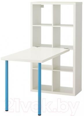 Письменный стол Ikea Каллакс 891.336.81 (белый/синий)