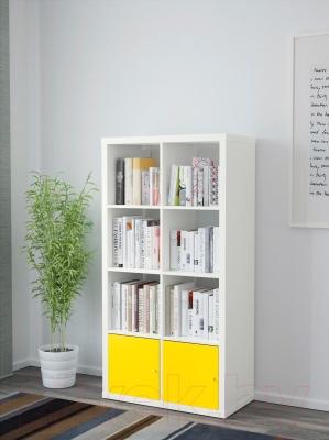 Стеллаж Ikea Каллакс 891.555.07 (белый/желтый)