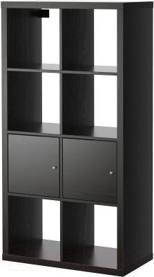 Стеллаж Ikea Каллакс 990.174.45 (черно-коричневый)
