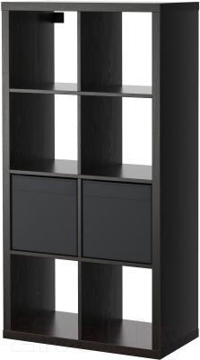 Стеллаж Ikea Каллакс / Дрёна 990.272.27 (черно-коричневый)