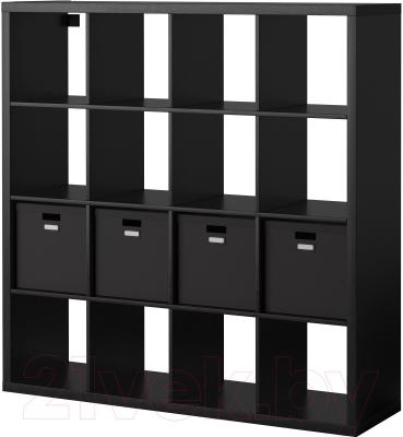 Стеллаж Ikea Каллакс / Тьена 990.305.93 (черно-коричневый)