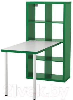 Письменный стол Ikea Каллакс 991.230.40 (белый/зеленый)
