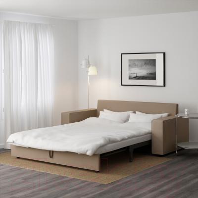 Диван-кровать Ikea Виласунд 299.072.33 (Дансбу бежевый) - в разложенном виде
