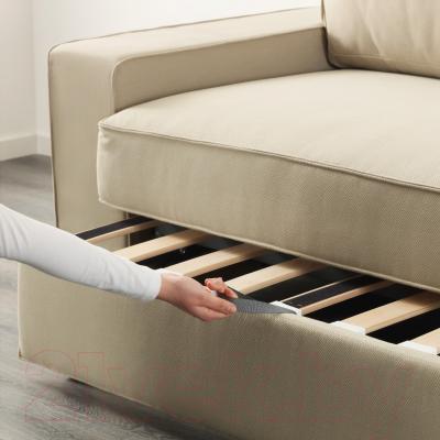 Диван-кровать Ikea Виласунд 299.072.33 (Дансбу бежевый) - в процессе раскладки