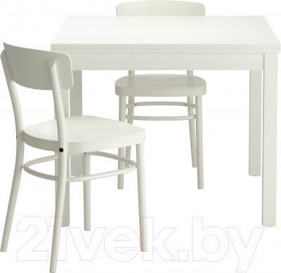 Обеденная группа Ikea Бьюрста / Идольф 299.320.77 (белый)