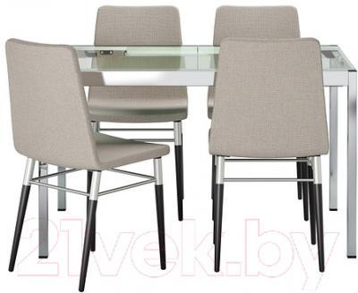 Обеденная группа Ikea Гливарп / Пребен 299.321.24 (прозрачный/светло-серый)