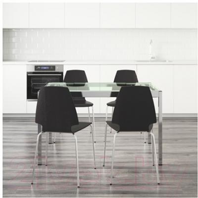 Обеденная группа Ikea Гливарп / Вильмар 299.321.43 (прозрачный/коричнево-черный)