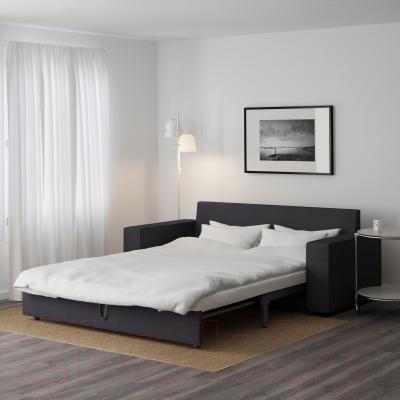 Диван-кровать Ikea Виласунд 199.072.38 (Дансбу темно-серый) - в разложенном виде
