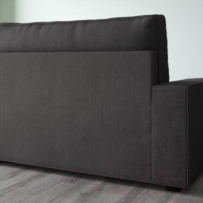 Диван-кровать Ikea Виласунд 199.072.38 (Дансбу темно-серый) - вид сзади