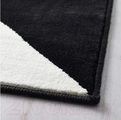 Ковер Ikea Силлеруп 302.878.21 (черный/белый)