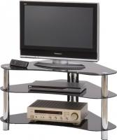 Стойка для ТВ/аппаратуры Halmar RTV-13 (черное стекло) -