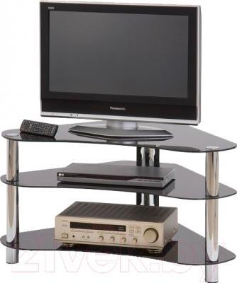 Стойка для ТВ/аппаратуры Halmar RTV-13 (черное стекло)