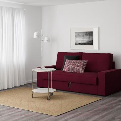 Диван-кровать Ikea Виласунд 199.072.43 (Дансбу красно-сиреневый) - в интерьере