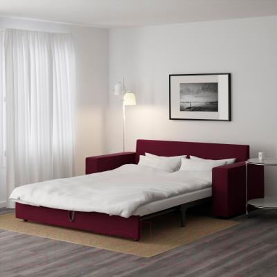 Диван-кровать Ikea Виласунд 199.072.43 (Дансбу красно-сиреневый) - в разложенном виде