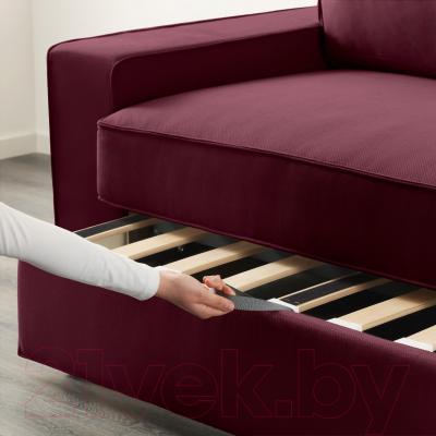 Диван-кровать Ikea Виласунд 199.072.43 (Дансбу красно-сиреневый) - в процессе раскладки
