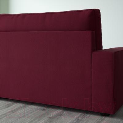 Диван-кровать Ikea Виласунд 199.072.43 (Дансбу красно-сиреневый) - вид сзади