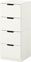 Комод Ikea Нордли 390.211.05 (белый) -