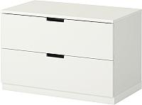 Прикроватная тумба Ikea Нордли 390.211.67 (белый) -