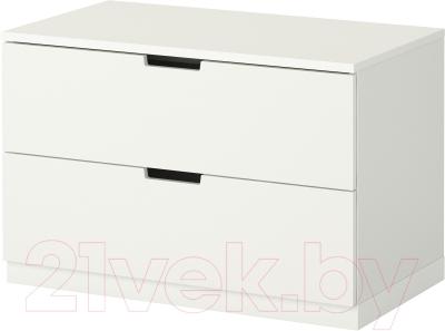 Прикроватная тумба Ikea Нордли 390.211.67 (белый)