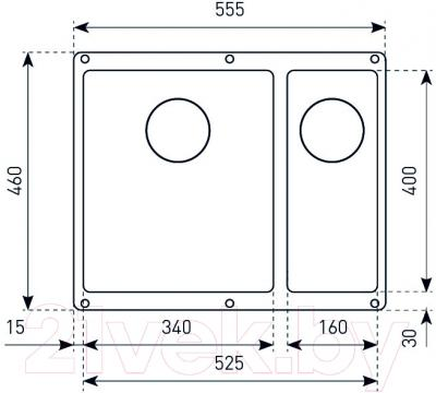Мойка кухонная Zigmund & Shtain Integra 500.2 (млечный путь)
