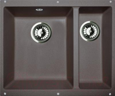 Мойка кухонная Zigmund & Shtain Integra 500.2 (темная скала)