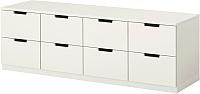 Комод Ikea Нордли 390.213.08 (белый) -