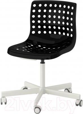 Стул офисный Ikea Сколберг/Споррен 390.236.04 (черный/белый)