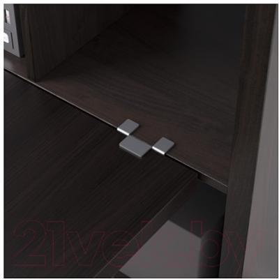 Письменный стол Ikea Каллакс 390.465.49 (черно-коричневый)