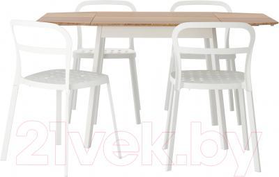 Обеденная группа Ikea Икеа ПС 2012 / Рейдар 199.172.18 (бамбук/белый)