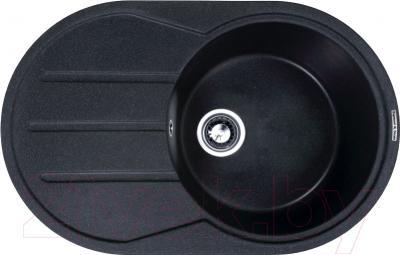 Мойка кухонная Zigmund & Shtain Kreis OV 770D (черный базальт)