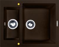 Мойка кухонная Zigmund & Shtain Rechteck 600.2 (швейцарский шоколад) -
