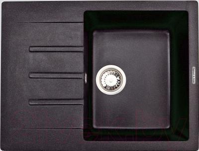 Мойка кухонная Zigmund & Shtain Rechteck 645 (черный базальт)