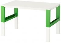 Письменный стол Ikea Поль 391.289.41 (белый/зеленый) -