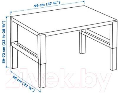 Письменный стол Ikea Поль 391.289.41 (белый/зеленый)