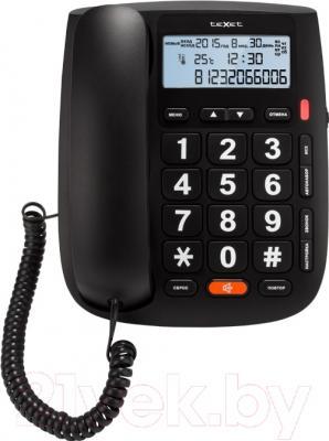 Проводной телефон TeXet TX-260 (черный)