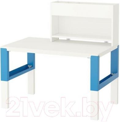 Письменный стол Ikea Поль 391.289.55 (белый/синий)