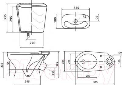 Унитаз напольный Colombo Бемби S10990091 - схема