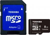 Карта памяти Toshiba microSD SDHC 8GB Class 10 + UHS-I / SD-C008UHS1 -