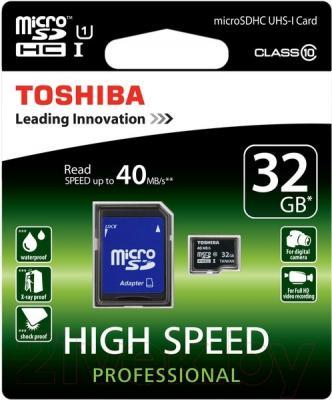 Карта памяти Toshiba microSD SDHC 32GB Class 10 + UHS-In / SD-C032UHS1