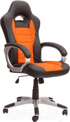 Кресло офисное Седия Ferrari Eco (черный/оранжевый)
