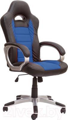 Кресло офисное Седия Ferrari Eco (черный/синий)