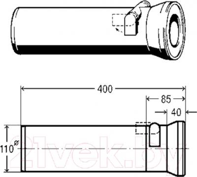 Труба Viega 134969 DN100 (белый)