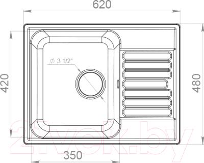 Мойка кухонная GranFest-Eco Eco-13 (белый)