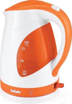 Электрочайник BBK EK1700P (белый/оранжевый)