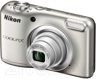 Компактный фотоаппарат Nikon Coolpix A10 (серебро)