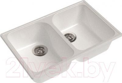 Мойка кухонная GranFest-Eco Eco-15 (белый) - реальный оттенок может отличаться